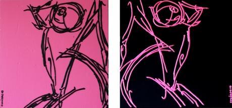black & pink nude